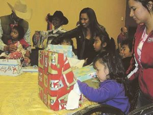 File photo The Portales Police Department's annual Santa Cop event will be happening 10 a.m.-1 p.m. Dec. 10 at the Memorial Building in Portales. The event has been taking place since 1998.